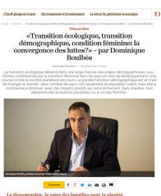 Tribune de Dominique Boulbès dans l'Opinion